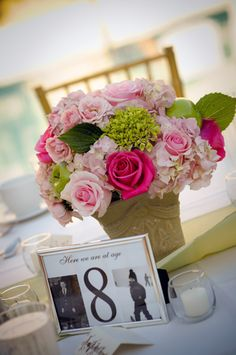 wedding center pieces with green apples