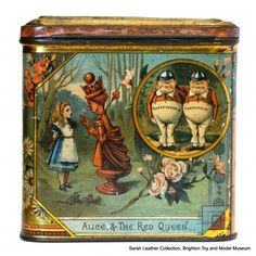Jacob's biscuit tin - 'Alice Through the Looking-Glass'