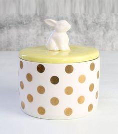 Sucrier en porcelaine lapin