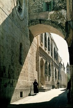 Ecce Homo Arch (Behold the Man) near the second station on Via Dolorosa, Jerusalem, Israel