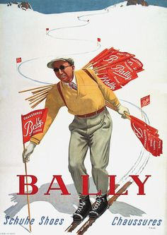 Poster by Rudolf Mulli / Bally / ca. 1947