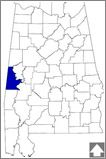 Sumter County--The Tombigbee River runs along the county's eastern border. The river is one of the most biologically diverse in the nation.