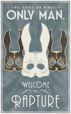 Bioshock Masquerade Poster - Created by Bianca Baumann