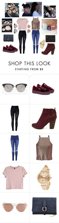 """Day Out with Big Sis 😎😎💕"" by sapphire-stone ❤ liked on Polyvore featuring Boohoo, Puma, WithChic, Breckelle's, WearAll, Miss Selfridge, H&M, Accessorize and Lodis"