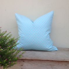 Retro pillow cover Alice blue pillow cover Dot  pillow by iaimshop, $25.00