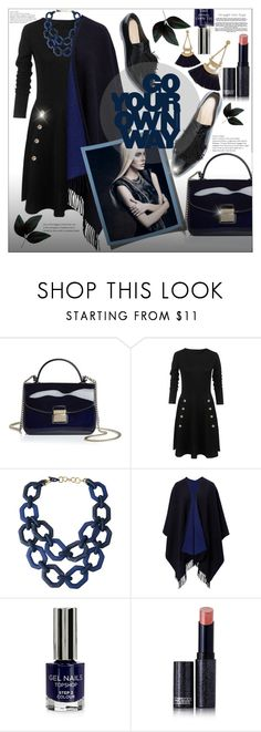 """""""Untitled #158"""" by shewalksinsilence ❤ liked on Polyvore featuring Furla, Alisha.D, Topshop and Lipstick Queen"""