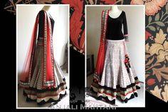 Anjali Mahtani Couture | Brocade lehenga and Velvet bodysuit