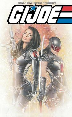 Our friends at Comic Market Street have a new variant out for GI Joe featuring the art of Natali Sanders. Dawn Moreno, the female Snake Eyes shook things up. Comic Book Covers, Comic Book Heroes, Comic Books Art, Baroness Gi Joe, Snake Eyes Gi Joe, Gi Joe Characters, Arte Dc Comics, Gi Joe Cobra, Pulp