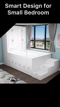 Small Room Design Bedroom, Small House Interior Design, Bedroom Furniture Design, Home Room Design, Home Decor Furniture, Casa Loft, Space Saving Furniture, Room Decor, Smart Design
