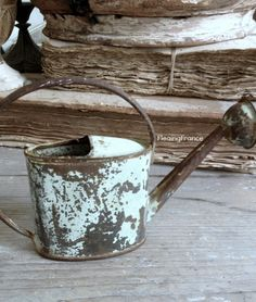 Antique French Child's Watering Can - Fleaing France