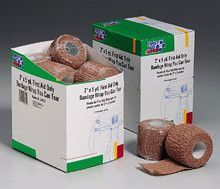2 in. x5 yd. cohesive elastic bandage- latex free- wrap you can tear- 8 per dispenser box