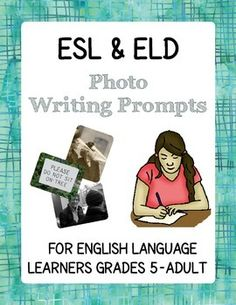 This product includes a dozen two-page writing prompts (using photos in the public domain) for high-beginner and intermediate English Language Learners.