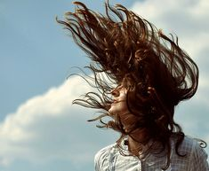 windy hair..
