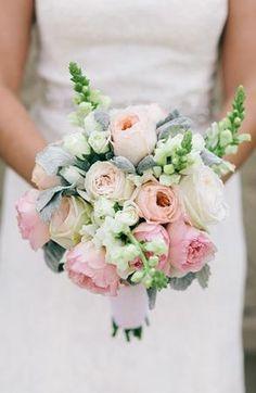 #mint #pink #green #pastel wedding bouquet (Photo by Ulmer Studios)