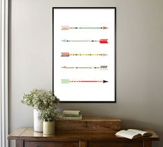 """ARROWS POSTER, Psalm 127:4, """"Like arrows in the hands of a warrior are children born in one's youth"""", HENANDCO, $22"""