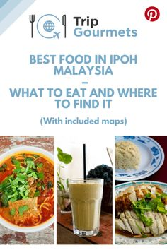 The food in Ipoh was so mouthwateringly good and diverse, that it deserves a post all of its very own, and we have obliged! If our last post didn't convince you to visit the diamond of central Malaysia, then prepare to change your mind - with our delectab Malaysia Travel, Asia Travel, Travel Tips, Travel Guides, Kuala Lumpur, Penang, Ipoh Malaysia, Food Map, Best Street Food