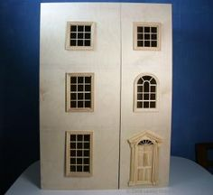 How to Build a Front Opening Dolls House  or Dollhouse Bookcase: Make Front Opening Doors For the Dolls House - Baby House Case