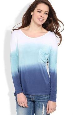 Deb Shops long sleeve tie dye dolman top $14.92