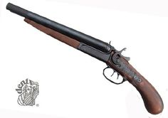 "This cut-down version of the famous Coach Gun was a favorite among barkeeps throughout the Wild West. It was also known as a ""Street Howitzer"". Doc Holiday is known to have carried a similar weapon to the gunfight at the OK Corral. Features Break open barrel and functioning hammer and trigger action."