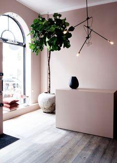 mauve walls and minimal decor for the contemporary home Mauve Walls, Pink Walls, Home Interior, Interior And Exterior, Interior Design, Beauty Salon Interior, Studio Interior, Lounge Decor, Room Colors