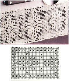 Někteří z vás mi psali o předlohu k háčkované krajce, příspěvěk zveřejněný na začátku tohoto roku. Tak posílám všem.   Přeji krásný den.... Crochet Edging Patterns, Filet Crochet Charts, Crochet Borders, Crochet Diagram, Crochet Motif, Crochet Doilies, Crochet Lace, Thread Crochet, Crochet Stitches