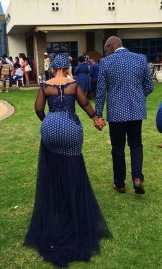 Shweshwe wedding dress with mesh and lace embroidery – African Fashion Dresses - 2019 Trends Couples African Outfits, African Fashion Ankara, Latest African Fashion Dresses, African Dresses For Women, African Print Fashion, African Attire, Ghanaian Fashion, Africa Fashion, South African Traditional Dresses