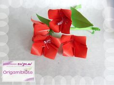 Origamiblüte Die Origamiblüte bekommt Blütenstempel, Blatt und Stiel aus Papier: https://www.youtube.com/watch?v=K1fv9IAWqcs Vase: https://www.youtube.com/watch?v=A2FNKKlAZu0 Origami-Blumentopf mit Blumen https://www.youtube.com/watch?v=vEfkiLFHMDQ