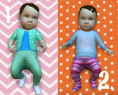 It's all about clutter, Baby Overrides: Set 8 - Light Skin/Girl + Brown...