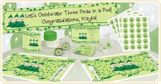 Three Peas In A Pod - possible baby shower theme