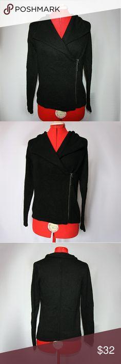 Design History Black Moto Sweater Cardigan Cute black Moro style sweater. Size small. Never worn Design History Sweaters