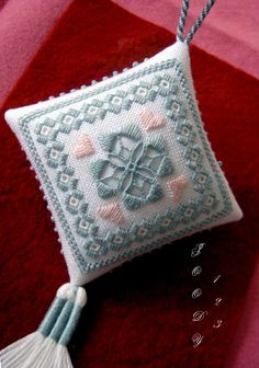 Whitework Embroidery: Hardanger Ornament III + Tassels Tutorials!