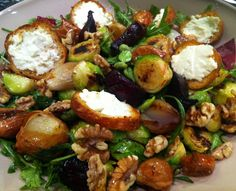 Roasted Brussels Sprouts & Beetroot Salad