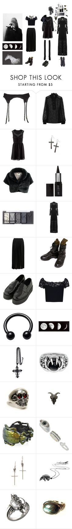 """Untitled #167"" by kevlartunga ❤ liked on Polyvore featuring Maison Close, D&G, H&M, Star by Julien Macdonald, Lord & Berry, Gestuz, Topshop, Boohoo, AllSaints and Bottega Veneta"