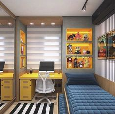 Boy's bedroom ideas and decor inspiration; from kids to teens Are you planning to decorate your boy's bedroom? If that is the case, you will need Boy Bedroom Ideas to get started. in bedroom boys Cool and Stylish Boys Bedroom Ideas, You Must Watch ! Small Bedroom Designs, Small Room Bedroom, Trendy Bedroom, Small Rooms, Design Bedroom, Boys Room Design, Dream Bedroom, Small Bedroom Interior, Bedroom 2018