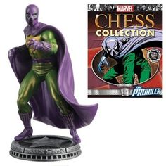 Marvel Amazing Spider-Man Prowler White Pawn Chess Piece with Collector Magazine #91