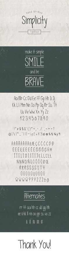 Simplicity Typeface - Hand-writing Script