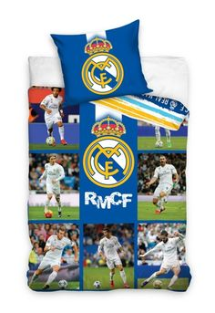 Real Madrid CF Stars Ronaldo Single Duvet Cover Set Football - 2 in 1 Design for sale online Single Duvet Cover, Duvet Cover Sets, Anne Stokes Dragon, Real Madrid, Textiles, Football Fans, Blue Backgrounds, Toy Chest, Pillow Cases