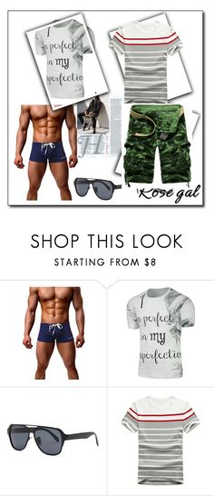 """""""Rosegal"""" by lejla150 ❤ liked on Polyvore featuring men's fashion and menswear"""