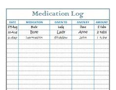 Horse Health Log – Medication Log | Helpful Horse Hints