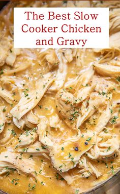 Here's The Best Slow Cooker Chicken and Gravy Recipe. It's slow cooker chicken is easy and delicious recipe. Here's The Best Slow Cooker Chicken and Gravy Recipe. It's slow cooker chicken is easy and delicious recipe. Slow Cooker Huhn, Best Slow Cooker, Crock Pot Slow Cooker, Crock Pot Cooking, Slow Cooker Recipes, Cooking Recipes, Healthy Recipes, Slow Cooker Turkey, Slow Cooker Dinners