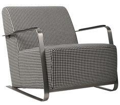 Adwin fauteuil - Zuiver - zwart wit