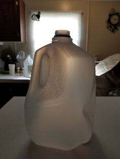 I just came up with an idea. Take this one gallon of milk jug or water jug. Fill it with cat food or dog food. Take this one gallon of milk or water jug and dump the cat food or dog food in their food dispenser. If they have a food bowl, you can use this jar to fill it up with.