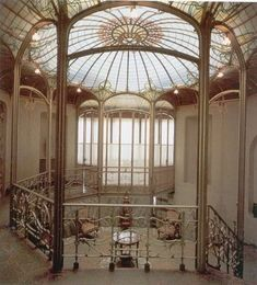 Interiors  Hotel van Eetvelde: Salon  Brussels, Belgium. Beautiful architecture, ceiling.