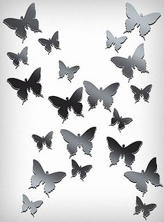 These peel and stick mirrored laser cut lucite wall decals are the perfect way to add some unique charm to any wall. As beautiful as the reflections they display, these little Butterfly shaped mirrors can be grouped together or used separately in different areas of your home.