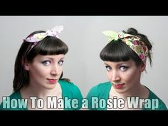 How To Sew a Rosie Wrap Hair Band - DiY Fashion Tutorial, My Crafts and DIY Projects