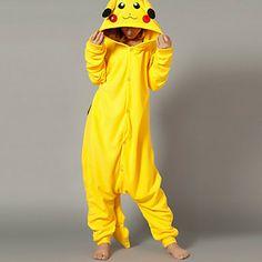 Magia Pikachu Giallo Polar Fleece Kigurumi pigiami degli indumenti da notte del fumetto animale del costume di Halloween – EUR € 24.74