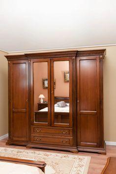 Classic Bedroom Furniture, Bedroom Furniture Design, Bed Furniture, Home Decor Furniture, Wall Wardrobe Design, Almirah Designs, Dressing Table Design, Wooden Wardrobe, Bedroom Cupboard Designs