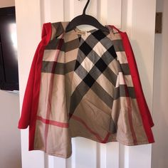 Little girls red cape 6t Perfect condition, red cape, 6t, the print and cape speak for itself how beautiful this piece is on any little fashionista little girl Sweaters
