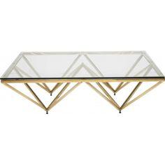table basse design network dore 105x105 cm kare design - Pied Pour Table Basse En Verre