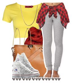 """."" by trillest-queen ❤ liked on Polyvore featuring Boohoo, Social Anarchy, Valentino, Forever 21 and Converse"